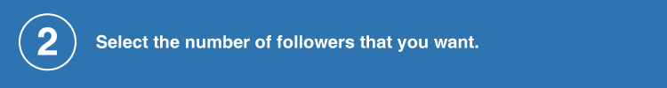 select the follower counts
