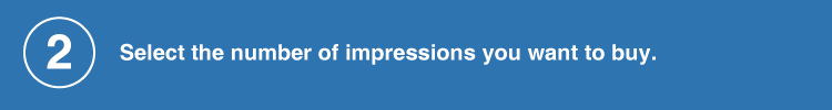 select the number of impressions