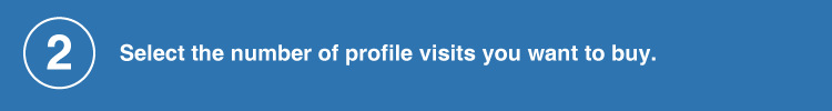 select the number of profile visits