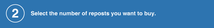 select to number of reposts
